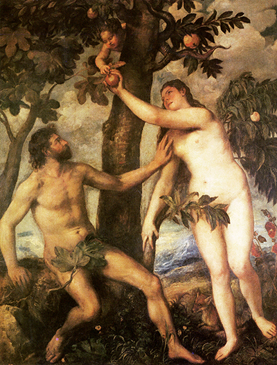 The Fall of Man Titian